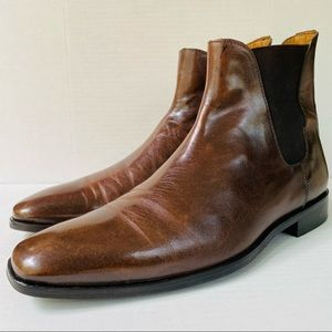 Barneys New York Italian Leather Chelsea Boots